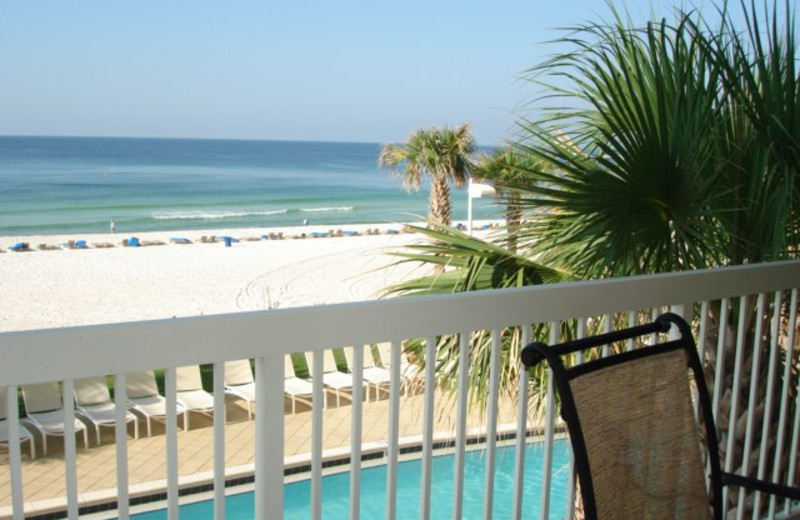 Beach view at Pelican Property Management.