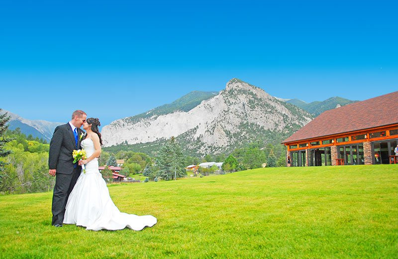 Wedding at Mt. Princeton Hot Springs Resort.