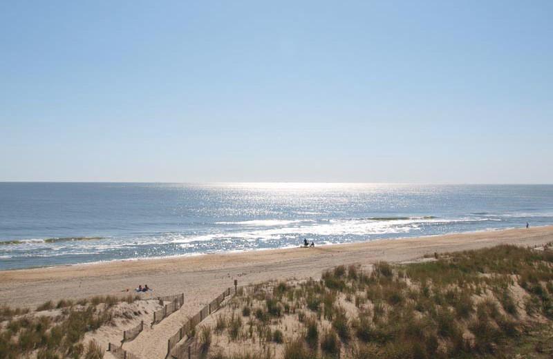 The beach at Quality Inn Oceanfront Ocean City.