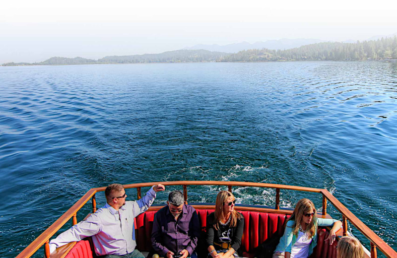 Boating at Averill's Flathead Lake Lodge.