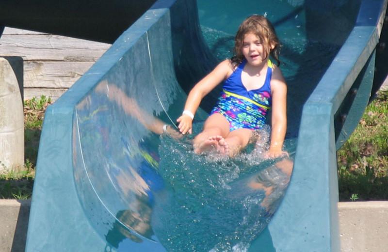 Water slide at YMCA Trout Lodge & Camp Lakewood.