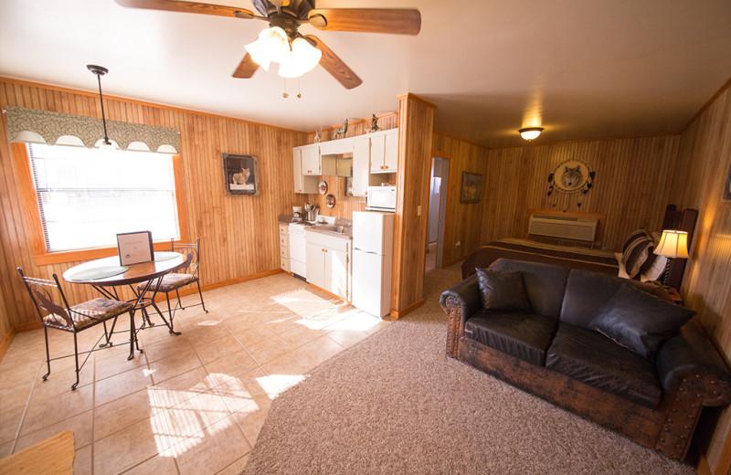 Cabin interior at Long Lake Resort.