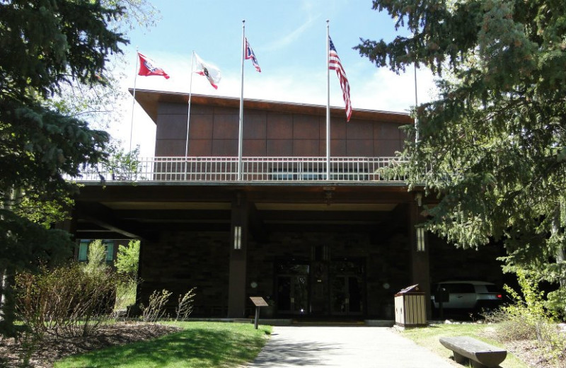 Front view of Jackson Lake Lodge.