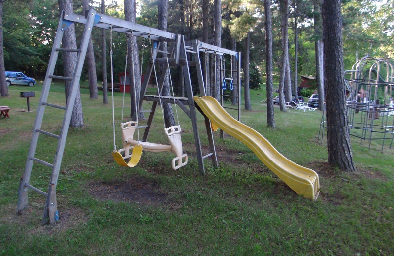 Kid's playground at Five Lakes Resort.