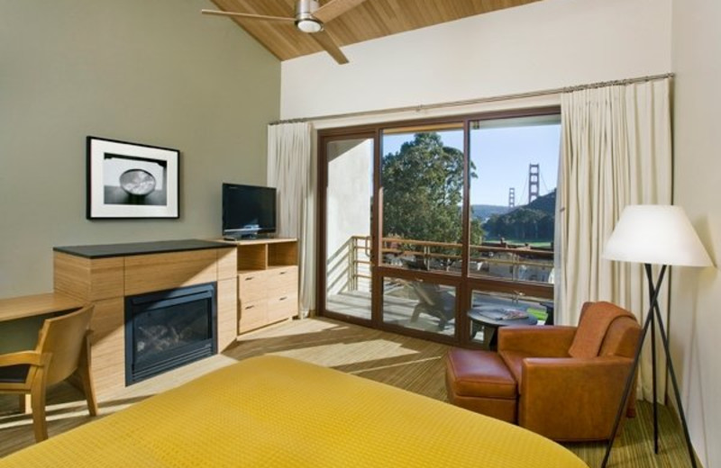 Guest room at Cavallo Point Lodge.