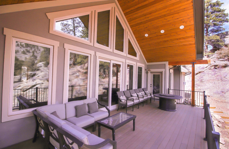 Guest porch at Woodlands On Fall River.
