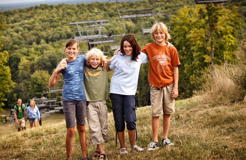 Family at Crystal Mountain Resort and Spa.