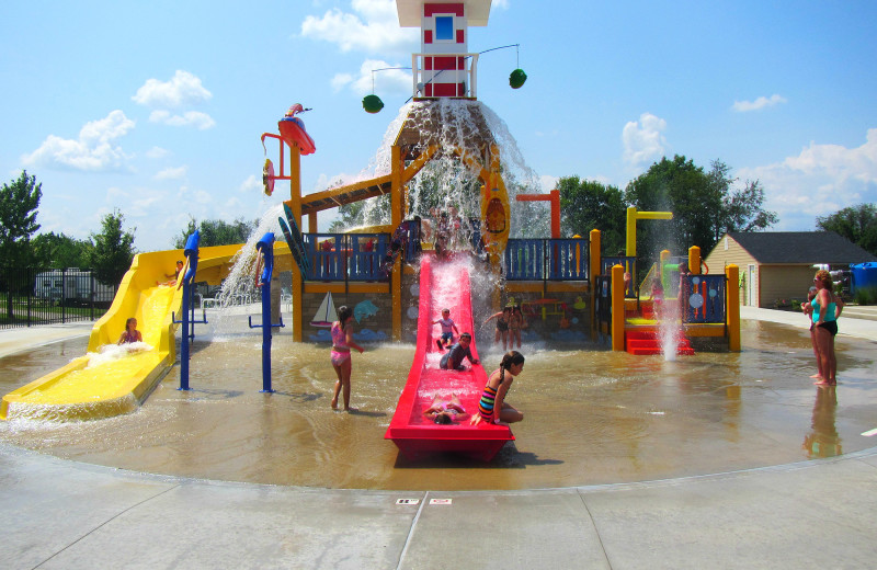Water park at Jellystone Park at Lake Monroe.