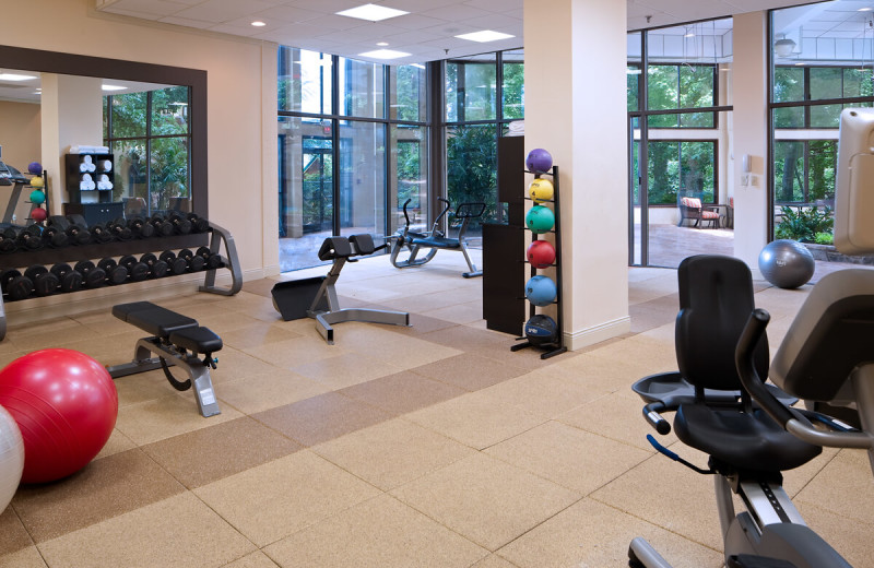 Fitness room at Park Vista Resort Hotel.