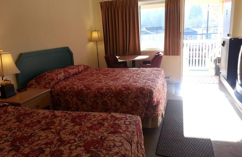 Guest room at Shelton Inn.