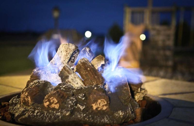 Bonfire at GrandStay Perham.