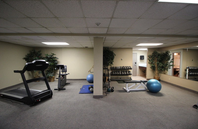 Fitness room at Tunnel Mountain Resort