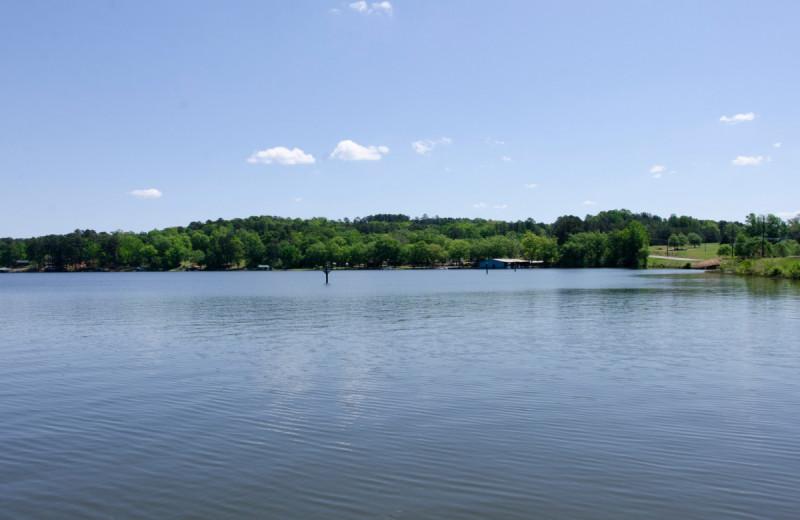 Lake view at Kel's Kove.