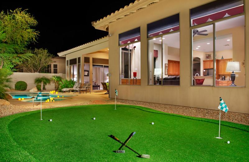 Rental mini golf at Arizona Vacation Rentals.