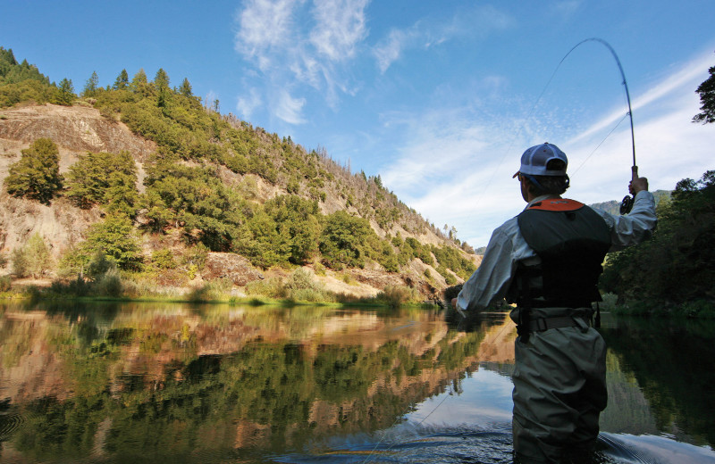 Fishing at Marble Mountain Guest Ranch.