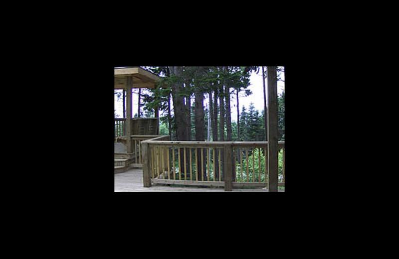 Patio at Cliffside Suites & Cottage.