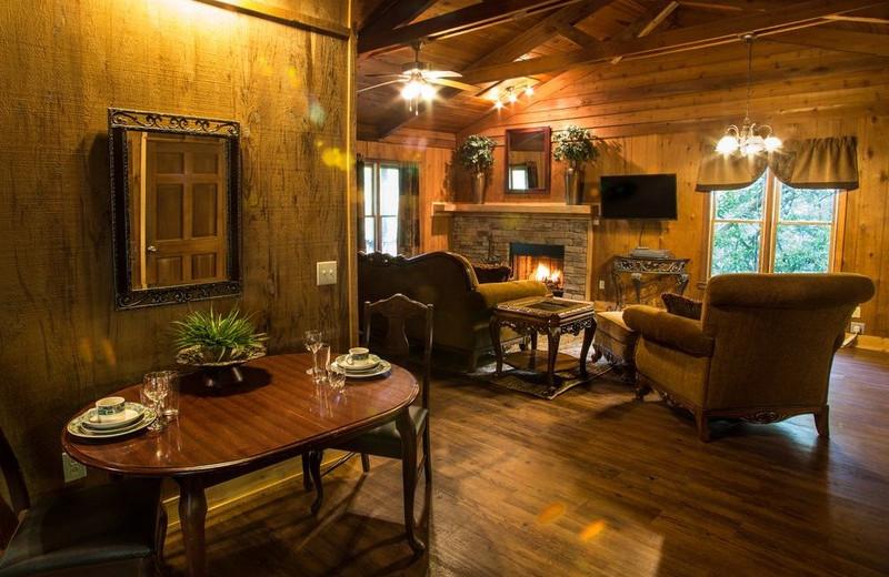 Guest cabin at Forrest Hills Resort.