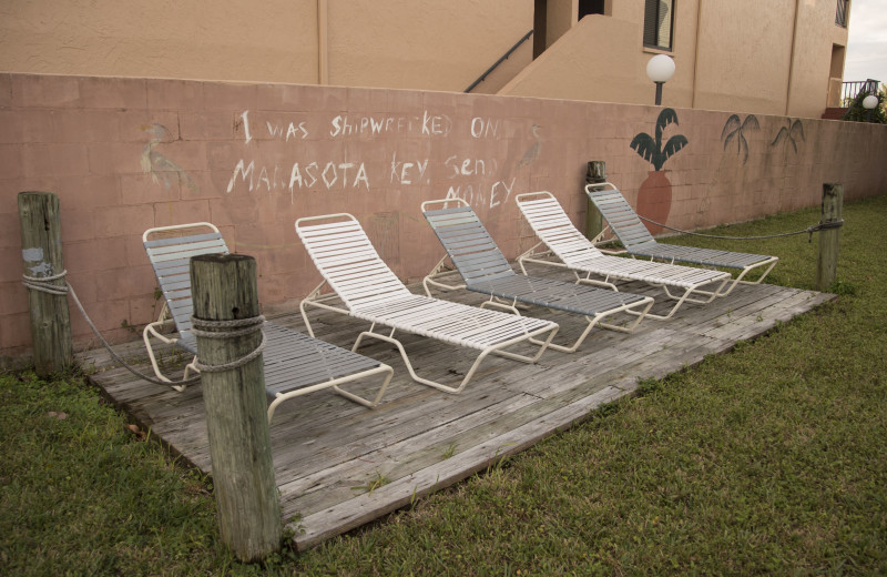 Lounge chairs at Englewood Beach & Yacht Club.