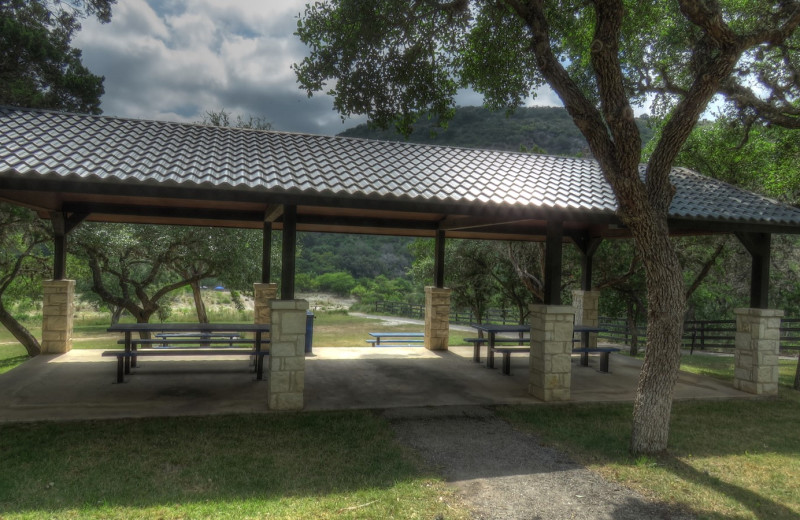 Rental pavilion at Frio River Vacation Rentals.