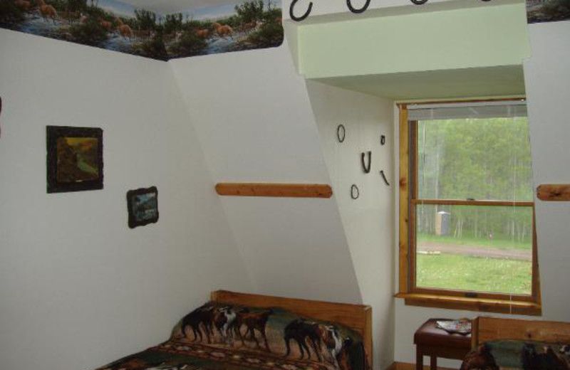 Guest room at Duck Lake Lodge.