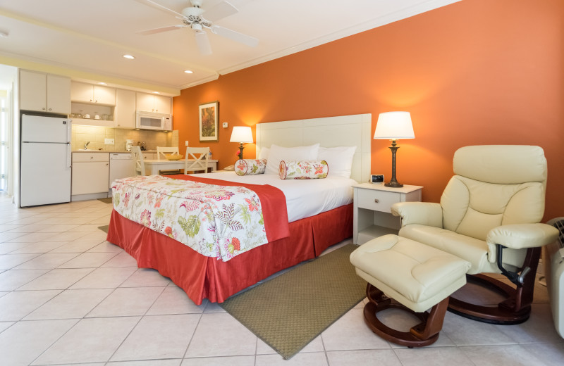 Guest room at Inn At The Beach Resort.
