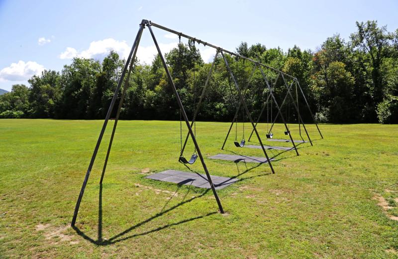 Swings at Glen Ellis Family Campground.
