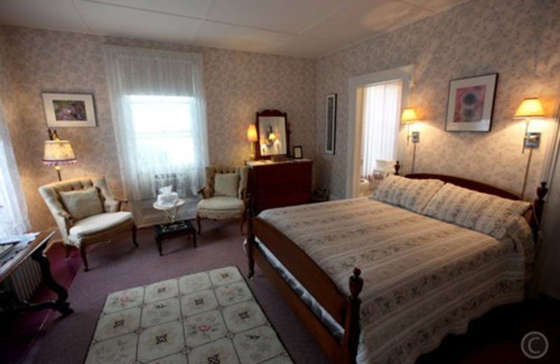 Guest room at Twin Gables of Woodstock.