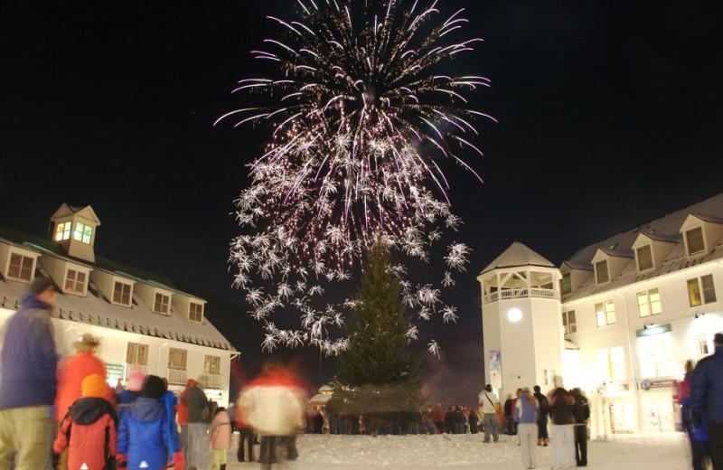Fireworks at Black Bear Lodge.