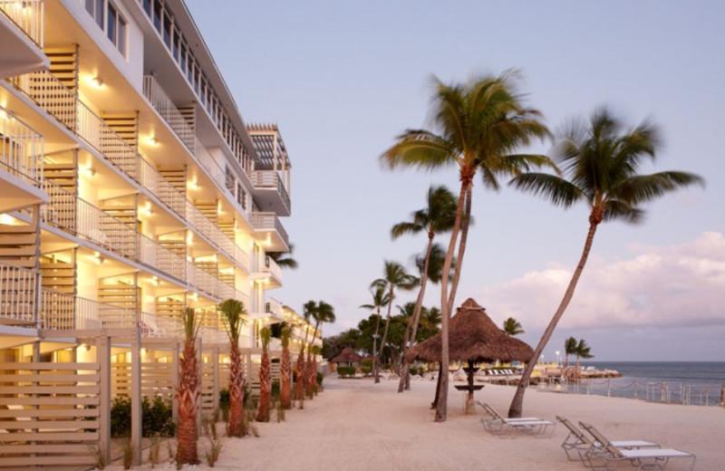 Exterior view of Postcard Inn Beach Resort & Marina at Holiday Isle.