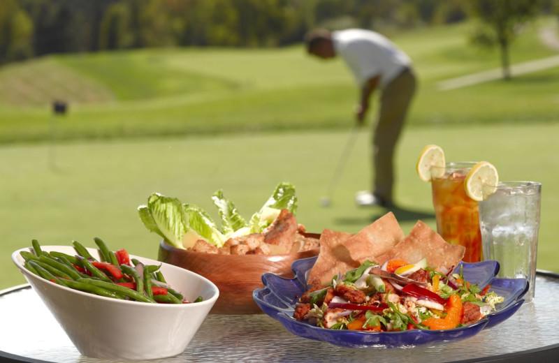 Dining at Boar's Head Resort.