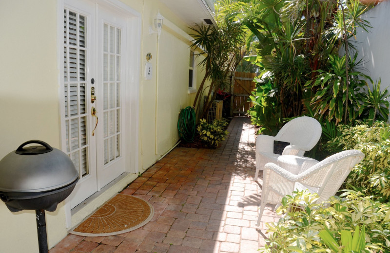 Rental patio at Beach Vacation Rentals.