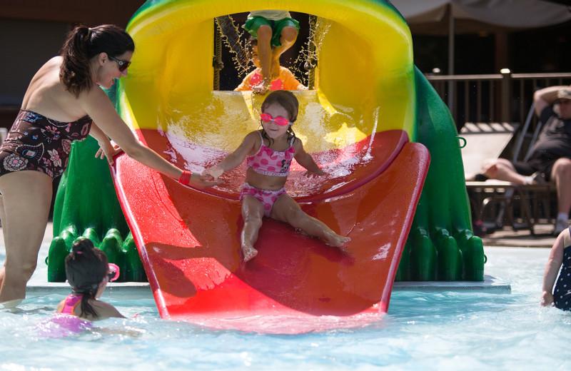 Splash pad at Woodloch Resort.