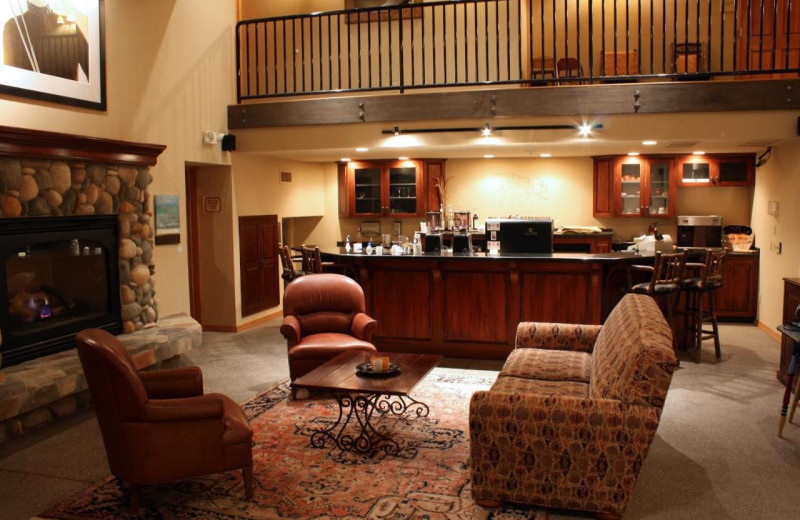Lobby at Bigfork Mountain Lake Lodge.