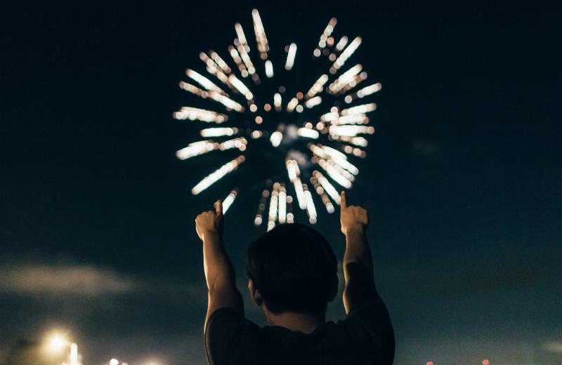 Fireworks at Shangri La Motel.