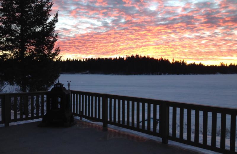 Sunset at Tyee Lake Lodge.