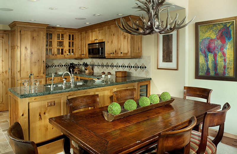 Guest kitchen at The Lodge At Vail.