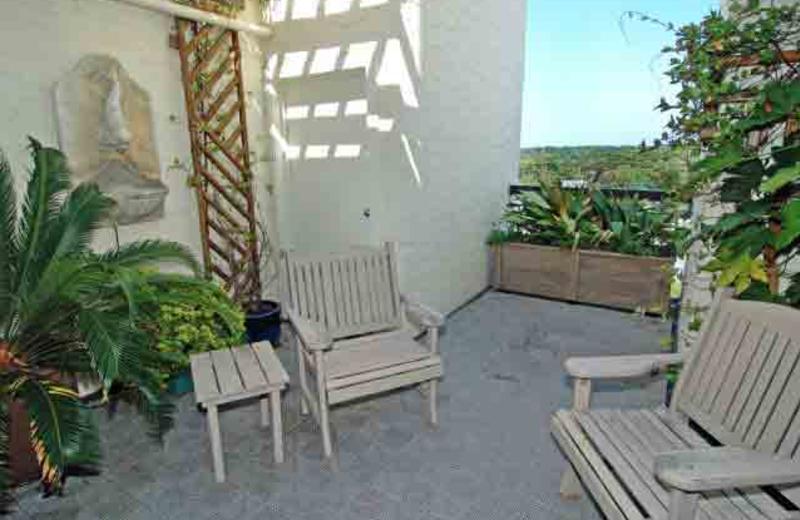 Outdoor patio at McMillan Real Estate.