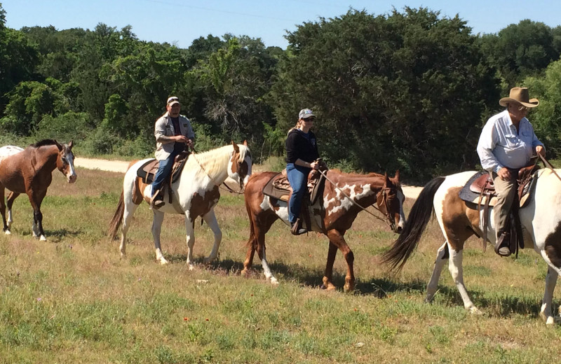 Horseback riding at Hideaway Ranch & Retreat.