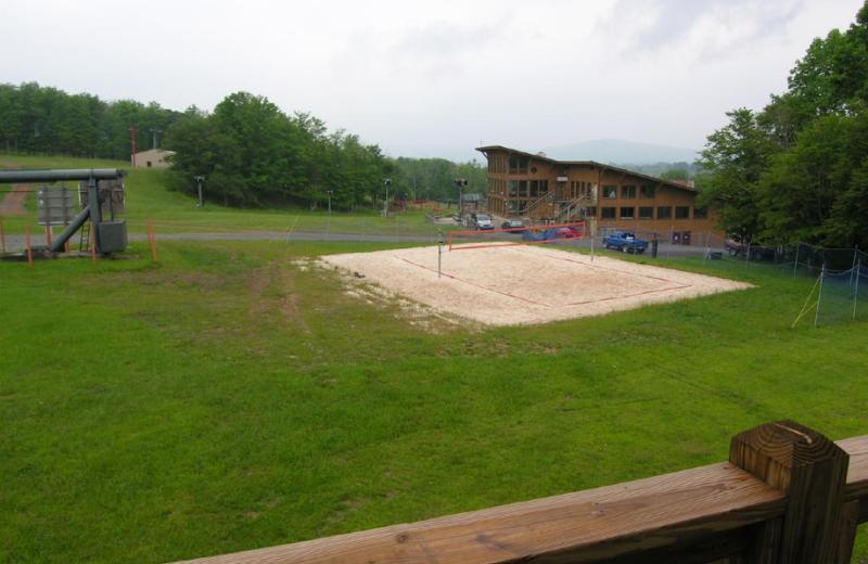 Volleyball court at Timberline Herzwoods and Northwoods Resort.