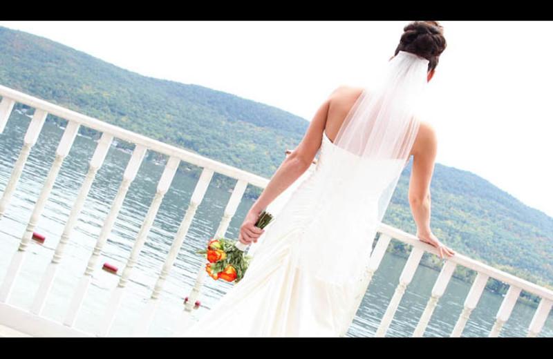 Bride at The Georgian Lakeside Resort.