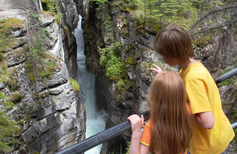 Athabasca Falls near Johntson Canyon Resort.