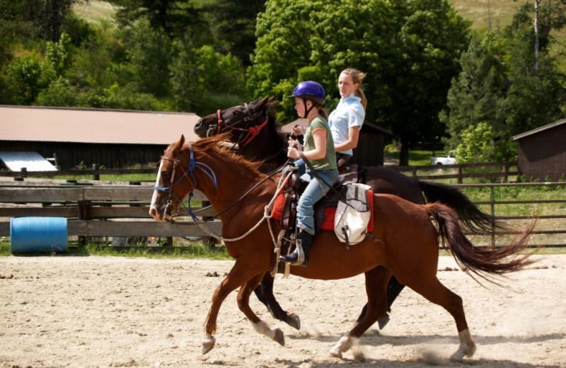 Horseback riding at Red Horse Mountain Ranch.