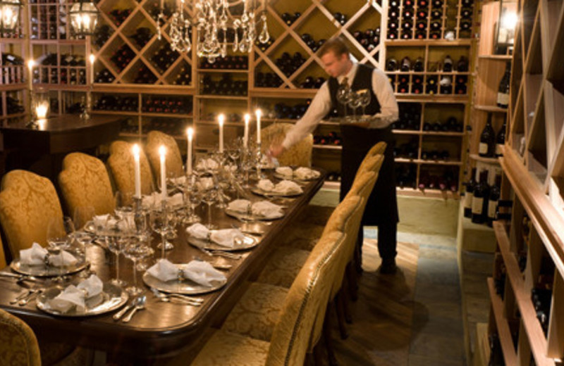 Inside dining at Keswick Hall.