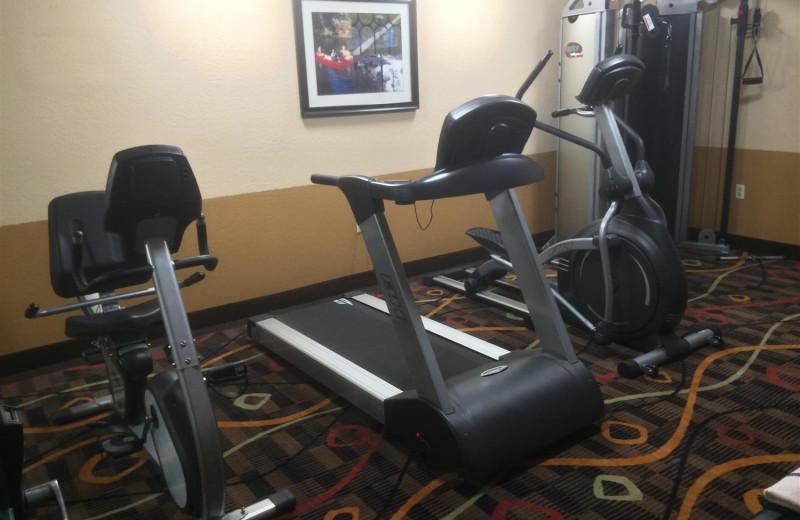 Fitness room at Best Western White Mountain Inn.