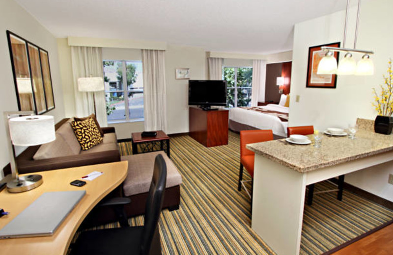 Studio suite at Residence Inn Milpitas Silicon Valley.