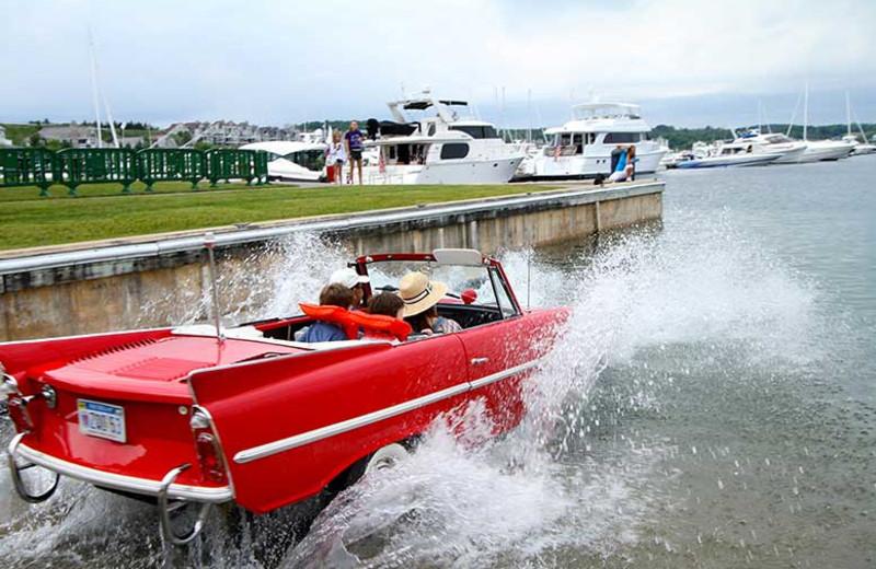 Car boat at Bay Harbor Resort and Marina.