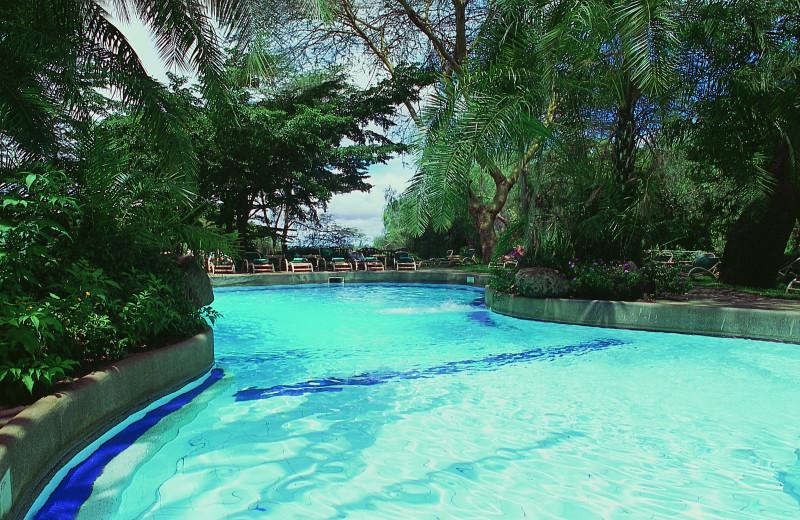Outdoor pool at Amboseli Serena.