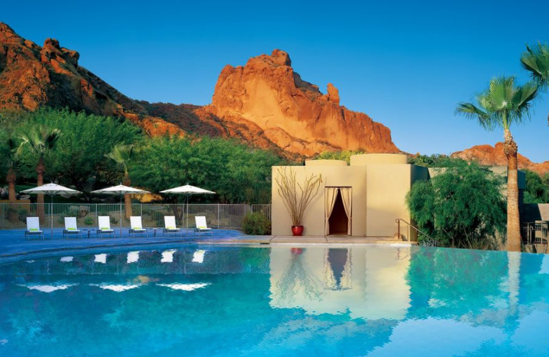 Outdoor pool at Sanctuary on Camelback Mountain.