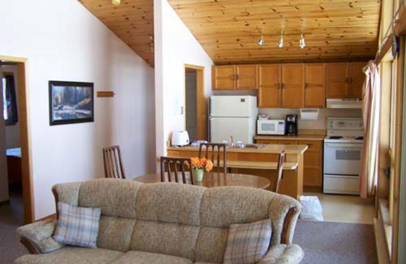 Cabin Interior at Walker Lake Resort