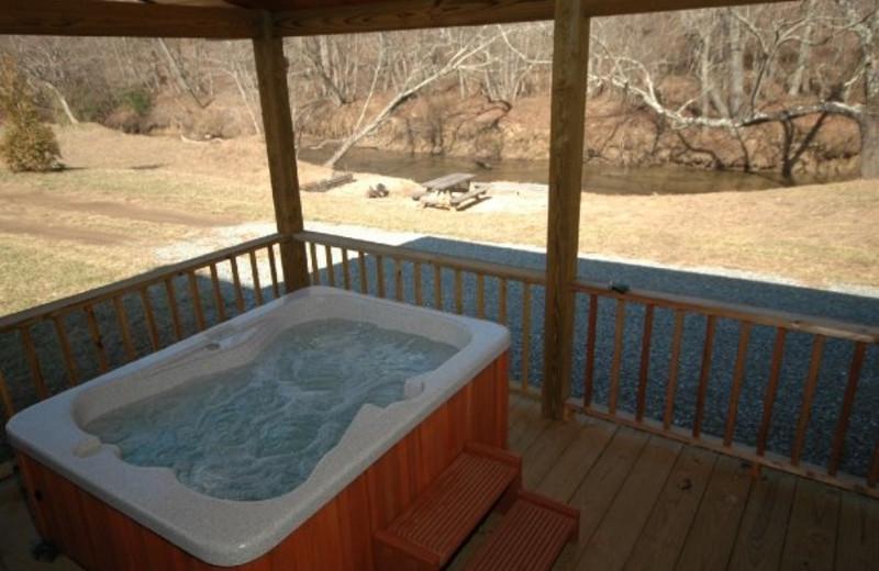 Hot Tub at JP Ridgeland Cabin Rentals
